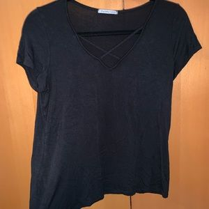 charlotte russe strapy short sleeve top